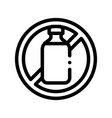 allergen free sign lactose thin line icon vector image vector image