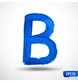 Alphabet Letter B Watercolor Alphabet vector image