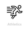 athletic sprinter icon vector image