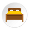 bed icon circle vector image vector image