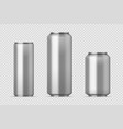 beer can mockup realistic aluminum metal can for vector image vector image