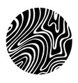 black abstract graphic circle with white lines vector image vector image