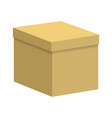 carton box with a closed lid vector image vector image