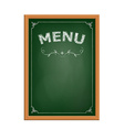 chalk board menu vector image