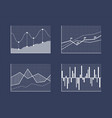 charts and schemes set poster vector image vector image