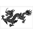 chinese dragon crawling vector image vector image