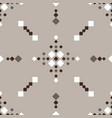 christmas fair isle brown white vbeige seamless vector image vector image