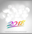 clean 2018 colorful text on white background vector image vector image