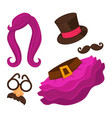 clothes for changing appearance hat and skirt vector image vector image