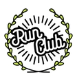 Color vintage run club emblem vector image vector image