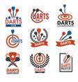 darts game or professional sports dartboard score vector image