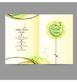 Design booklet with floral ornament vector image vector image