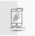 device mobile phone smartphone telephone line vector image vector image