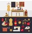 Elements for knitting and sewing vector image
