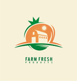 Farm fresh product label design layout vector image vector image