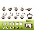 Fastfood manuals vector image