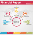 five points financial report infographic vector image vector image