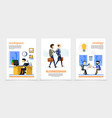 flat businessman vertical banners vector image vector image