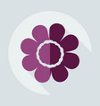 flat modern design with shadow icon flower vector image vector image