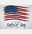 for patriot day with us flag vector image vector image
