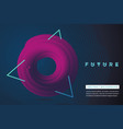 futuristic minimal background neon laser lines vector image vector image
