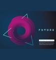 futuristic minimal backround neon laser lines vector image vector image