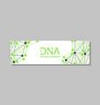 genetics testing science dna double spiral vector image vector image