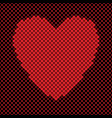 heart shaped background design from red squares - vector image vector image