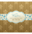 invitation vintage label vector frame vector image vector image