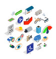 junction icons set isometric style vector image vector image