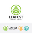 leaf consulting logo vector image vector image