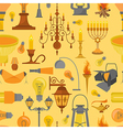 Lighting seamless pattern vector image vector image