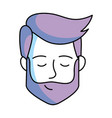 man only face vector image vector image