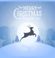 merry christmas snowy night and happy new year vector image vector image