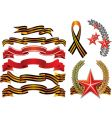 military decoration style ribbons vector image vector image