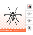 mosquito simple black thin line icon vector image