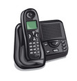 office cordless phone vector image