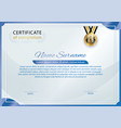 official white certificate with blue gradient vector image vector image