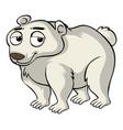 polar bear with sad face vector image vector image