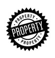 property rubber stamp vector image vector image
