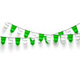 realistic bunting 3d flag st patrick day vector image vector image