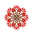 red mandala pattern vector image vector image
