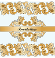 Royal imperial classic invitation vector image vector image
