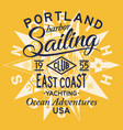sailing east coast yacht club vector image vector image