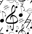 Seamless Pattern Music Signs Background vector image vector image