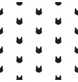 seamless pattern with black cat head silhouette vector image vector image