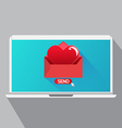 Send Heart in Valentine day vector image