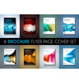 Set of 8 Brochures templates Flyer Designs or vector image vector image