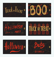 Set of Halloween gift cards vector image