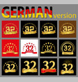 set of number thirty-two 32 years celebration vector image vector image